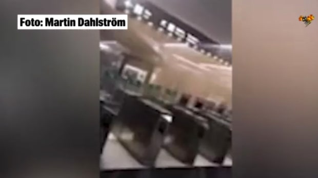 Larm om brand i tunnelbanan