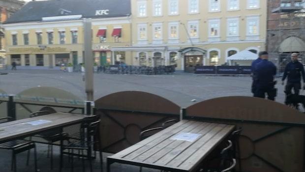 Skottlossning i centrala Malmö - flera personer chockade