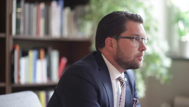 """Jimmie Åkesson: """"Jag är övertygad om att stora delar av Moderaterna är beredda att ta vårt stöd"""""""