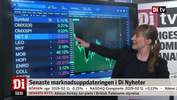 Di Nyheter 12.00: Netent ner på rapport