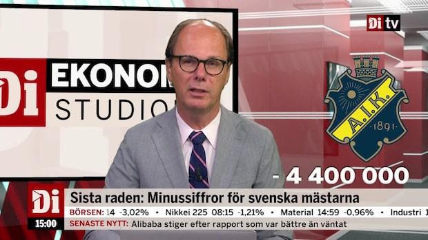 Dagens siffra: Minussiffror för svenska mästarna