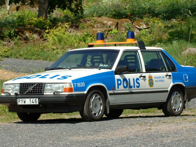 """Den gamla polisbilen är i """"oklanderligt välvårdat bruksskick""""."""