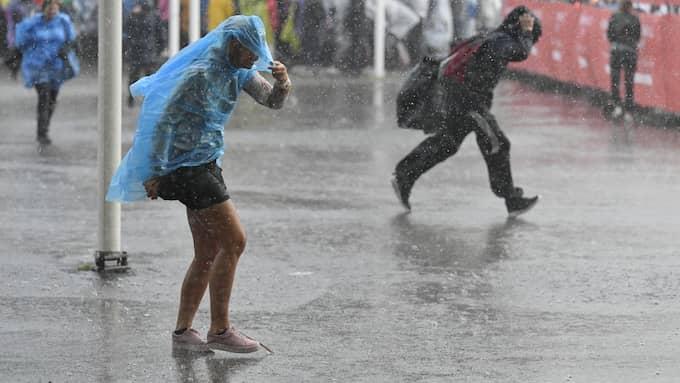 SMHI varnar för regn och rusk under onsdagen. Har utfärdat en klass 1-varning. Foto: / TT NYHETSBYRÅN