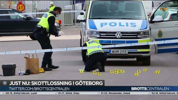 Två män beskjutna utanför bostadshus i Göteborg