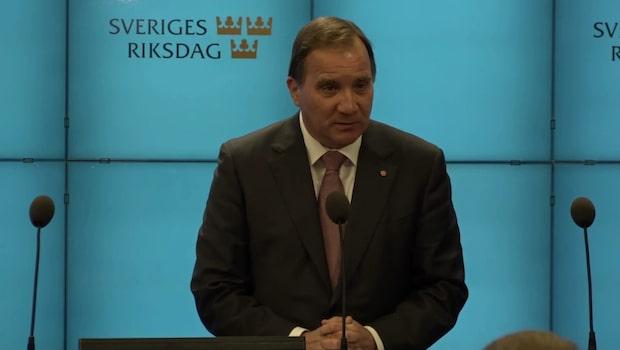 """Stefan Löfven: """"Bedömer läget som svårt"""""""