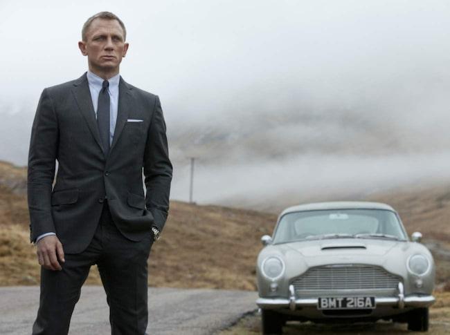 Skyfall. Aston Martin DB5 har rullat i många Bond-filmer.
