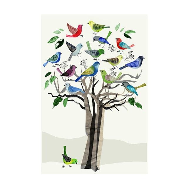 <span>Motivet Kvitterträd ur kollektionen A Study of trees av Anna Handell. Klicka på plustecknet i bilden för att handla direkt i LEVA&BO:s webbutik.</span>