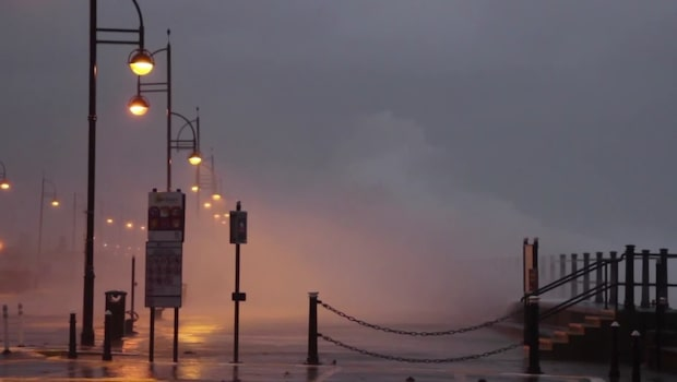 Stormen Brian drar in över Storbritannien