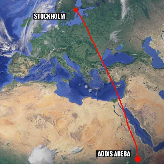 Planet kom från Addis Abeba i Etiopien.