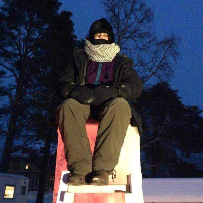 """""""På natten blev det kämpigt när det var så lugnt och alla gick och la sig"""", säger Felicia Seemann – som lämnade tävlingen efter 12 timmar. Foto: Gunnar Wikström"""