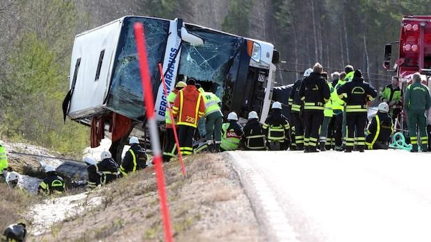 Tre ungdomar dog i bussolyckan i Sveg 2017 – föraren frias