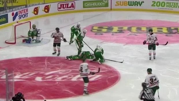 Träffas av skott i huvudet –leds av isen