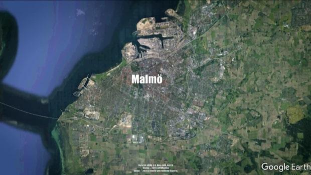 Sprängladdning detonerade i trappuppgång i Malmö