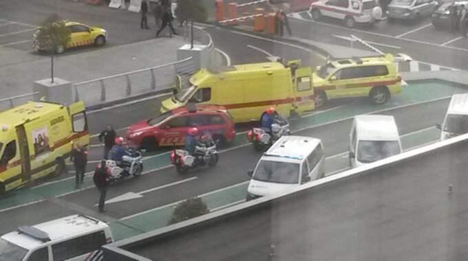Utanför flygplatsen i Bryssel. Foto: No Credit / STELLA PICTURES