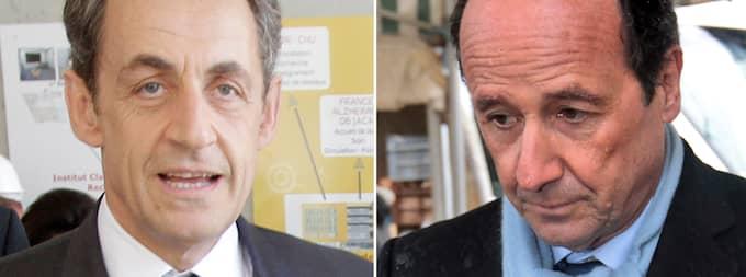 Nicolas Sarkozy och François Hollande.