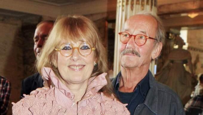 Marie-Louise Ekman och maken Göstar har roligt ihop - och man kan inte leva utan humor, säger Marie-Louise. Foto: Cornelia Nordström