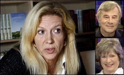 """""""MEDVETET FÖRÄNDRAT."""" """"Jag har aldrig påstått att varandra detalj stämmer"""", säger Liza Marklund om """"Gömda""""-bråket. Jan Guillou menar att titeln kunde formulerats annorlunda. """"Det är en bra roman"""", säger Ann-Marie Skarp. Foto: Sven Lindwall"""