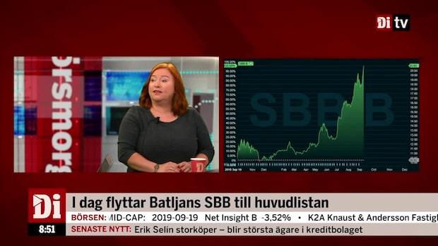 SBB-aktien har kursdubblats under året