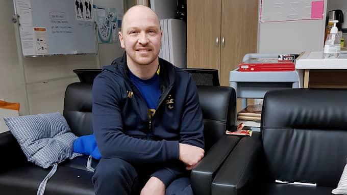 Niklas Ingvarsson på plats i Pyeongchang för sitt femte Paralympics Foto: Privat