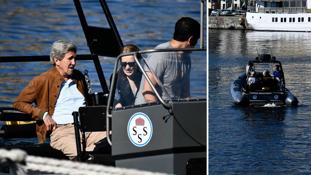 John Kerry turistar i Stockholm