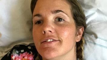 Glädjen: Anna Holmlund är äntligen hemma