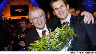 Vinnare - pappa Johnny och sonen Stefan Holm.