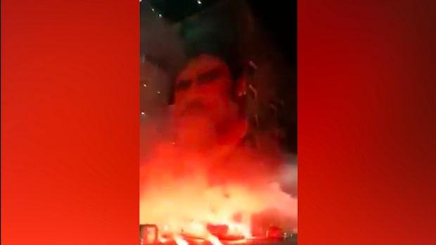 Fansens hyllning till Maradona i Napoli