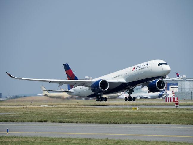 Delta Airlines har branschens högsta snittålder på sina plan – i genomsnitt 17 år. Flygplanet på bilden, en A350-900, är dock betydligt nyare än så.