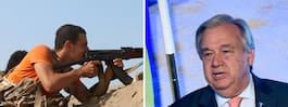 FN-chefen i Sverige för  avslutande Jemensamtal