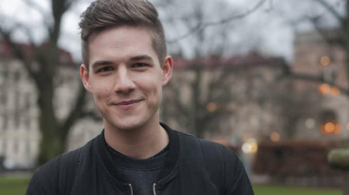 Mårten Roslund, språkrör för Grön Ungdom. Foto: Grön Ungdom / TT NYHETSBYRÅN