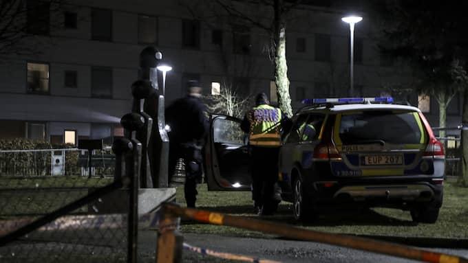 En man blev knivhuggen till döds i området Hässleholmen i Borås i mars i år. Foto: ADAM IHSE/TT