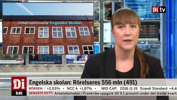 Di Nyheter 08.00 20 november - lägre resultat för Engelska skolan