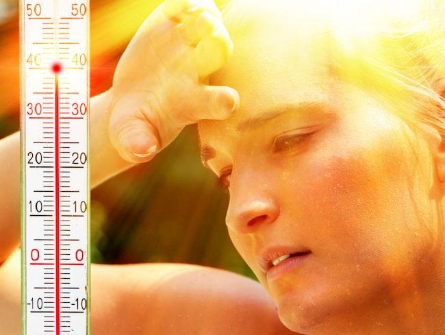 Det kan vara en fara för hälsan om du inte dricker tillräckligt när temperaturen stiger.