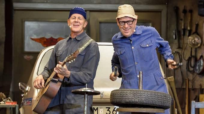 Anders Eriksson och Jan Rippe som Roy och Roger. Foto: JAN ELLSINGER