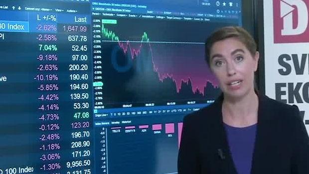 Marknadskoll: Börsen fortsatt ner - Arjo mot strömmen