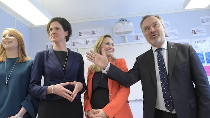 Annie Lööf, Ebba Busch Thor och Jan Björklund har tillsammans större stöd i opinionen än Moderaterna. Det förändrar dynamiken i alliansen. Foto: JANERIK HENRIKSSON/TT / TT NYHETSBYRÅN