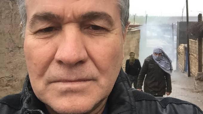 Ramazan Kizil är på besök i Kurdistan för en begravning. Men nu kommer han inte hem till Sverige. Foto: Privat