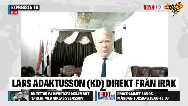 """Lars Adaktusson: """"Människor som tvingades fly undan IS ska kunna återvända"""""""