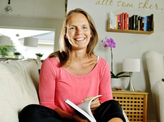 """Karin Isberg, 36: """"Likes är som snabba kickar""""<br>Karin skrev en fejkstatus och fick massor av likes."""