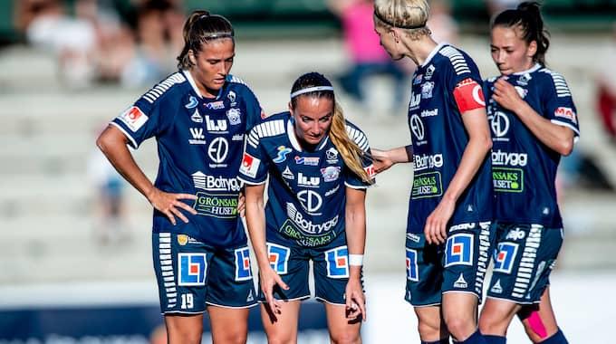 Linköpingsspelarna deppar. Foto: CHRISTIAN ÖRNBERG / BILDBYRÅN
