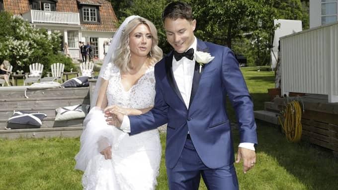 Camilla Läckberg och Simon Sköld på deras bröllop.