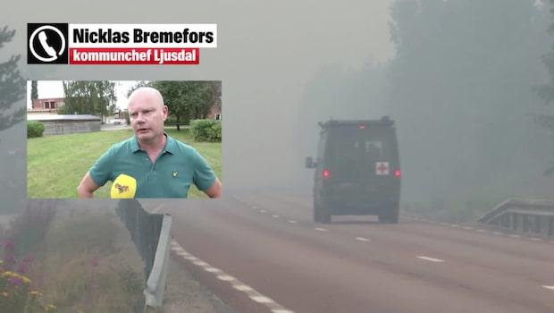 Bränderna fortsätter i Ljusdal: Fruktansvärt