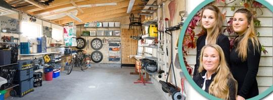 garage med ordning reda s fixar du leva bo