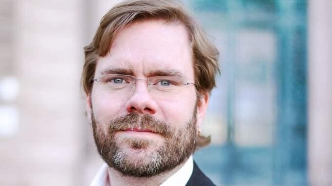 Jörgen Fogeklou (SD), distriktsordförande i Sverigedemokraterna Göteborg. Foto: PRESSBILD