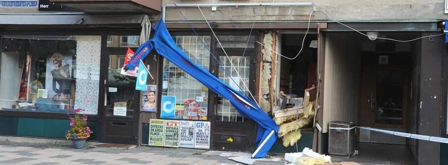 Tjuvar stal bankomat med hjullastare