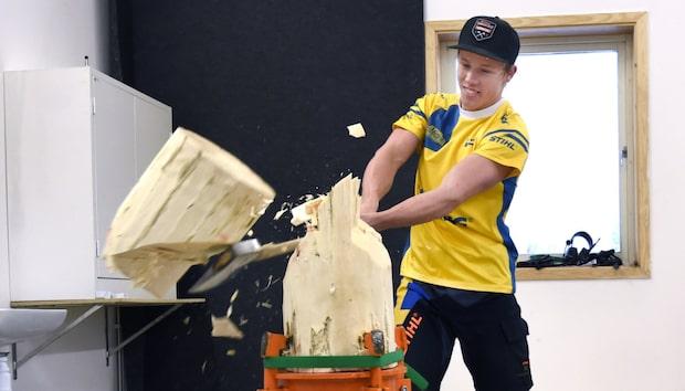 Ferry Svan JVM-mästare i timbersport