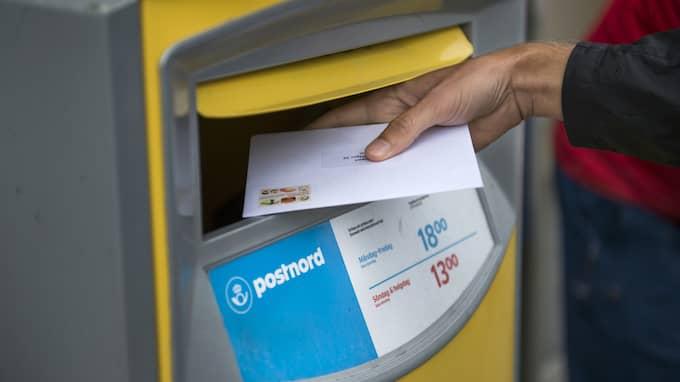 Nästa år blir det dyrare att skicka brev. Foto: / TT NYHETSBYRÅN
