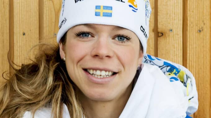 Maria Rydqvist, längdskidåkare i svenska landslaget. Foto: Nils Jakobsson