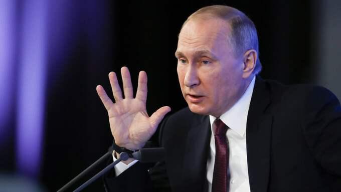 Vladimir Putins Ryssland pekas ut som cyberangripare av både Sverige och USA. Foto: Pavel Golovkin / AP / TT