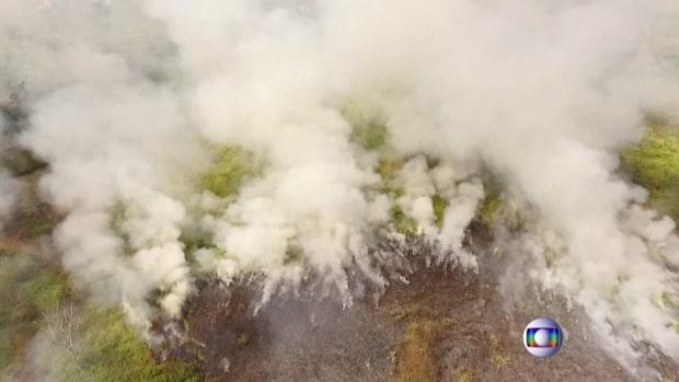 Rekordmånga bränder i Amazonas regnskog